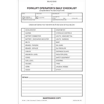 The forklift operators must be trained on the the training package should include templates of forklift operator cards and certificates. Forklift Training - DVD Program | Daily checklist, Book format, Checklist template