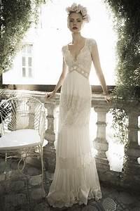 Romantic boho hippie bohemian style v neck lace chiffon for Bohemian beach style wedding dresses