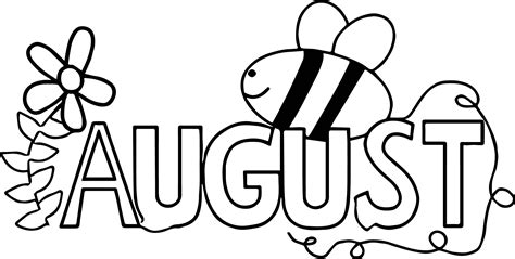 summer august bee coloring page wecoloringpagecom