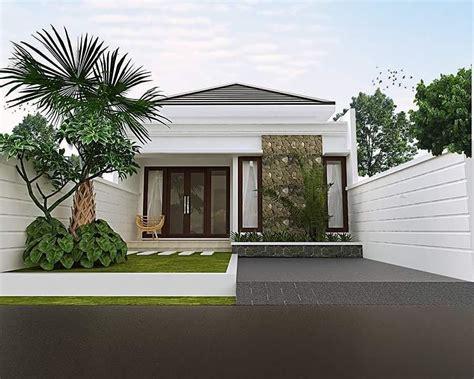 gambar minimalis batu alam tampak depan rumah desain