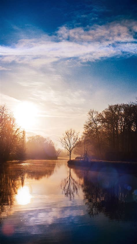 We have an extensive collection of amazing background images carefully chosen by our community. PAPERS.co   iPhone wallpaper   mw65-lake-calm-tree-mountain-sunny-day-nature-flare-blue