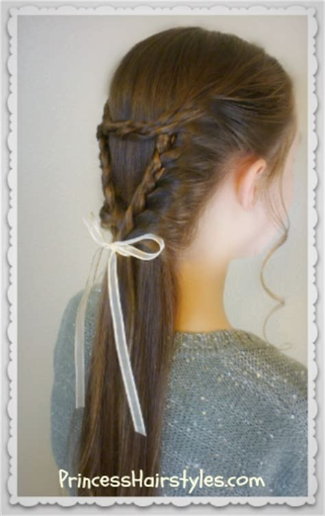 triangle braid  heart braid hairstyle hairstyles