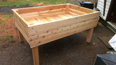 above ground garden box heavy duty above ground raised bed cedar planters 3 x5