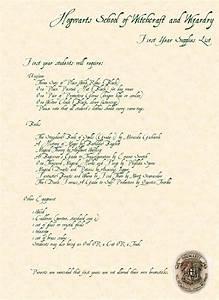 Hogwarts Supplies List by RebeccaBrenna