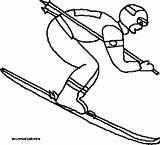 Coloring Skiing Pages Winter Printable Olympics Getcolorings Flickr sketch template