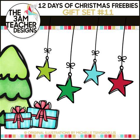 the 3am teacher 12 days of christmas freebies free