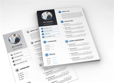Format Free by Free Simple Resume Template In Psd Format Resume