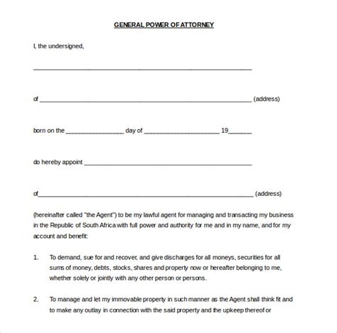 General Power Of Attorney Form California Pdf