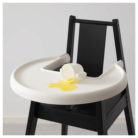 chaise haute sans tablette blåmes structure chaise haute tablette noir ikea