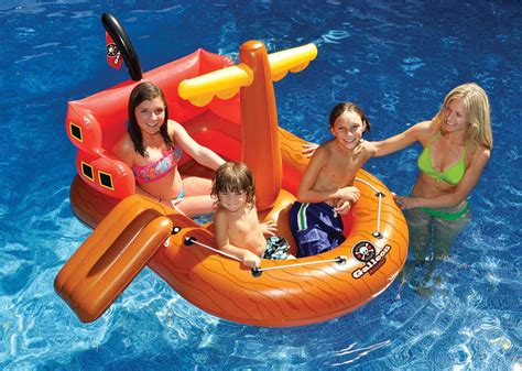 Kids Inflatable Swimming Pool Float Blow Up Fun Pirate