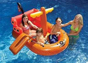 KIDS INFLATABLE SWIMMING POOL FLOAT BLOW UP FUN PIRATE ...
