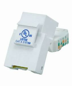 Cat6 Rj45 8p8c Tool Less Keystone Jack For Solid Ethernet Network Cables White