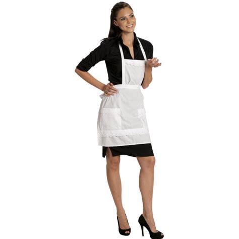 planning femme de chambre tablier de service pour grand hotel ou café