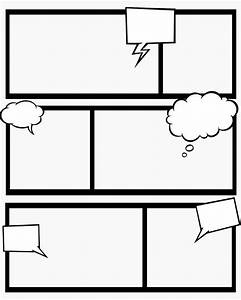 7 best images of comic book templates printable free for Comic strip template for kids