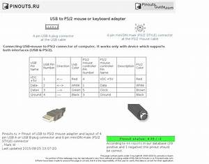 Usb Keyboard To Ps2 Adapter Wiring Diagram