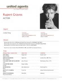 what is a cv for actors resume template exle