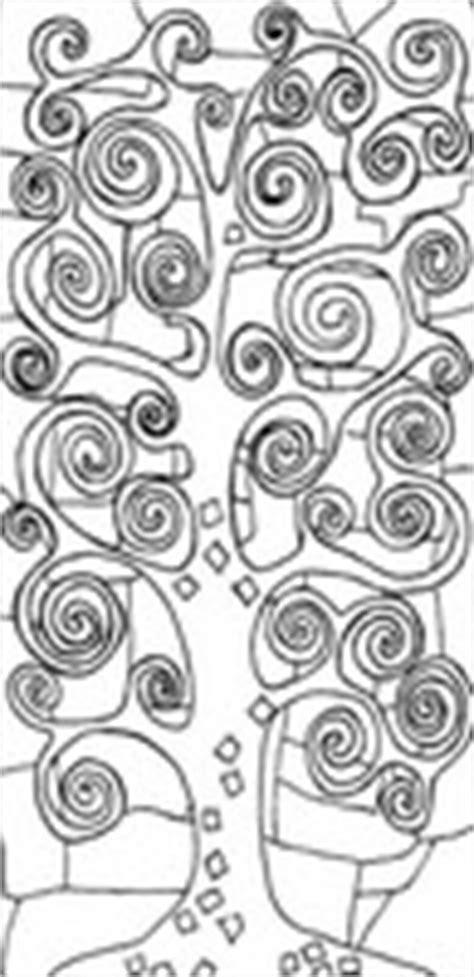 disegni da colorare  adulti gustav klimt