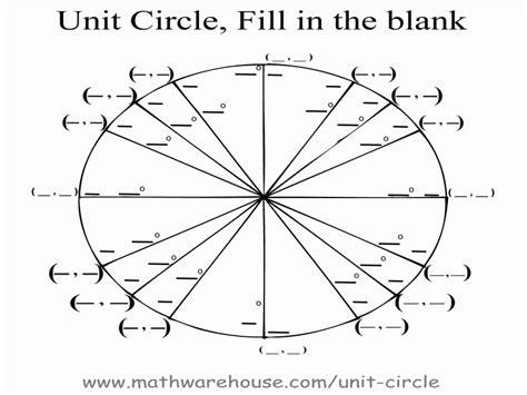 The Unit Circle Worksheet  Free Printable Worksheets