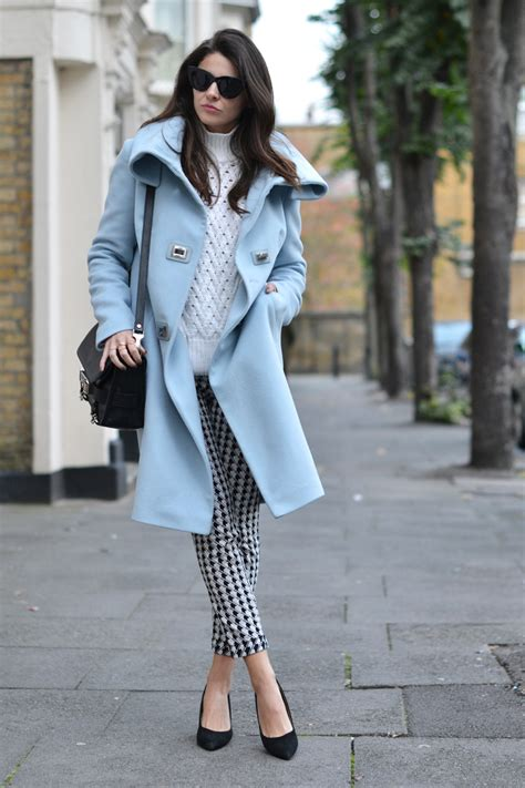 Pastel Blue Coats Are Trending Stylecaster