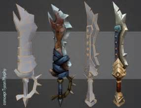 Hand Painted Weapons