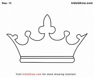 How To Draw A Crown Step By Step Video Tutorial Step By
