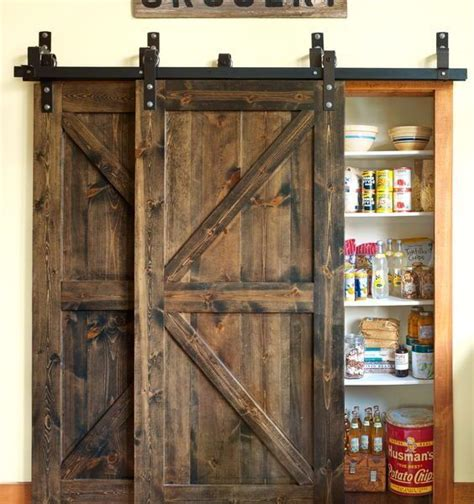 double track bi passing sliding barn door hardware system