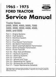 1965 Ford 5000 Tractor Service Repair Manual