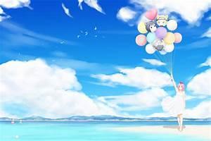 naruto, shippuuden, , anime, , haruno, sakura, , clouds, , birds, , balloons, wallpapers, hd, , , , desktop, and