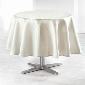 Nappe De Table Ronde : nappe de table ronde d180 cm linge de table eminza ~ Teatrodelosmanantiales.com Idées de Décoration