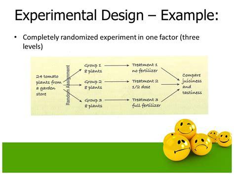 experimental design exles experiments and observational studies ppt