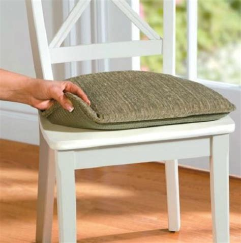 set of 2 indoor dining kitchen non slip chair cushion pad