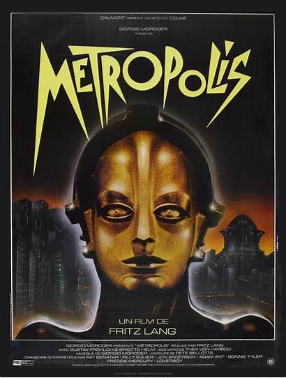 Metropolis 1927 Retro Film Poster French Sf