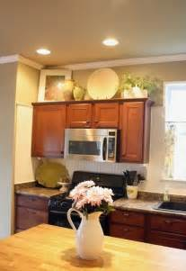 top of kitchen cabinet decor ideas decorating above kitchen cabinets freshomes