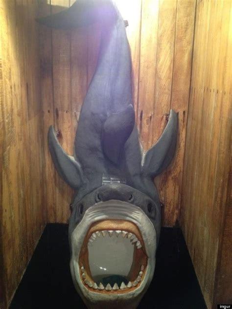 skull toilet shark urinal  pretty cool
