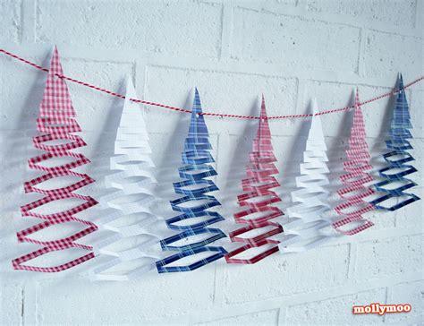 Mollymoocrafts Free Printables  Christmas Tree Garland