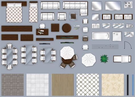 model  furniture floorplan top  view style  psd