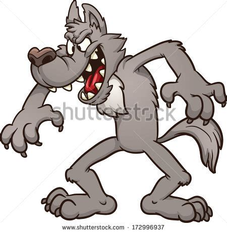 grey wolf cartoon stock  images pictures