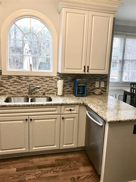 light french gray kitchen update  cabinet girls