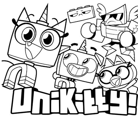 Unikitty Puppycorn Coloring