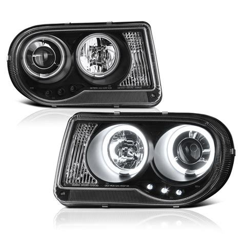 Halo Lights For Chrysler 300 by 05 10 Chrysler 300c Duaul Halo Led Projector Headlights