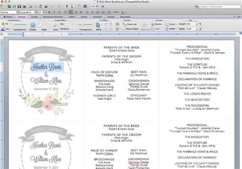 diy tutorial  printable ceremony booklet boho