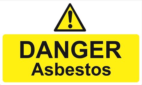 danger asbestos warning signs selfadhsigns set
