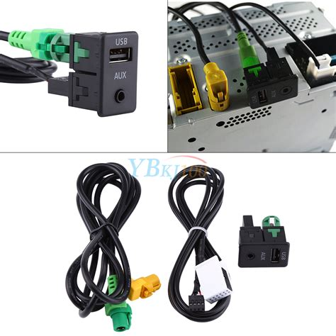 usb aux switch connecting cable adapter  bmw