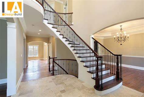 Living Room-traditional-staircase-los Angeles-by