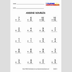 Adding Doubles Worksheets And Teaching Strategies The