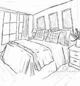 Coloring Bedroom Sheet Interior Printable Drawing Getcolorings Template Popular sketch template