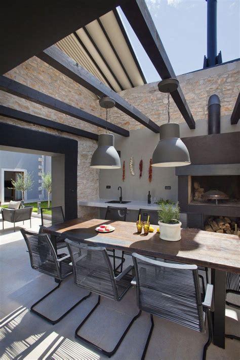 modelo de barbacoa  de comedor exterior terrazas