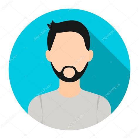 Man With Beard Icon Cartoon Single Avatarpeaople Icon