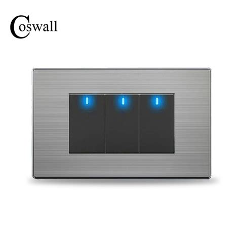 coswall us standard 3 2 way light switch with led
