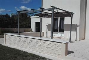 Muret De Cloture : muret terrasse pour am nagement ext rieur mur de cl ture ~ Melissatoandfro.com Idées de Décoration